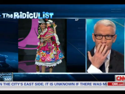 Anderson Cooper Feature Upsets Peru