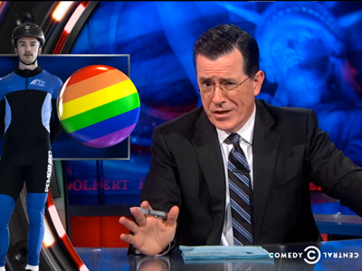 Stephen Colbert: Gays Are Endangering Russia's Olympics by Existing