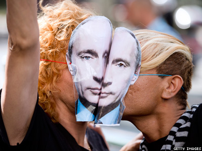 Putin Denounces 'Xenophobia' Against LGBT Russians