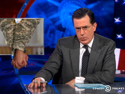 WATCH: Colbert Blasts Okla. Gov's Antigay Military Policy