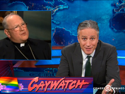 The Daily Show's Gaywatch, Feat. Ian McKellen, Rick Santorum, and Cardinal Dolan