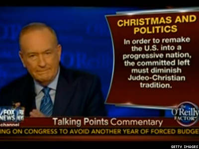WATCH: Bill O'Reilly's 'War on Christmas' Led By Abortionists and Married Gays