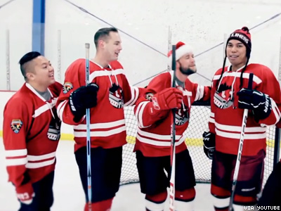 WATCH: What Do These Gay Hockey Players Want for Christmas?