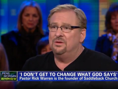 WATCH: Pastor Rick Warren's Orwellian 'Doublespeak' on Marriage Equality