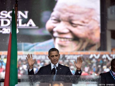 WATCH: Obama Invokes LGBT Rights in Mandela Eulogy