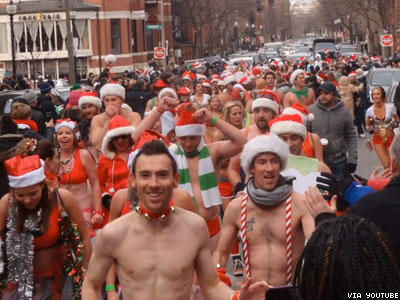 WATCH: Santa Speedo Run Turns Boston Into a Beefcake Wonderland