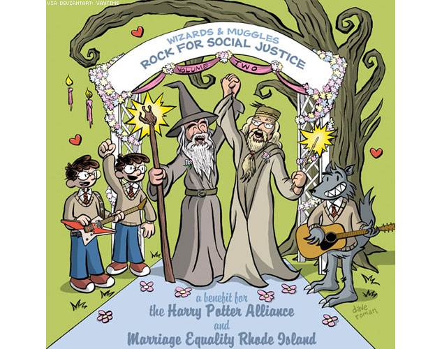 633Dumbledore Gandalf Gay Wedding By Yaytime 0