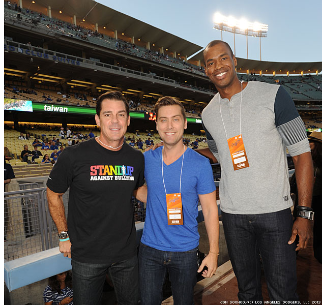 Lance Bass Billy Bean And Jason Collins Looking Stylishly Casual Pre Gamex633 0