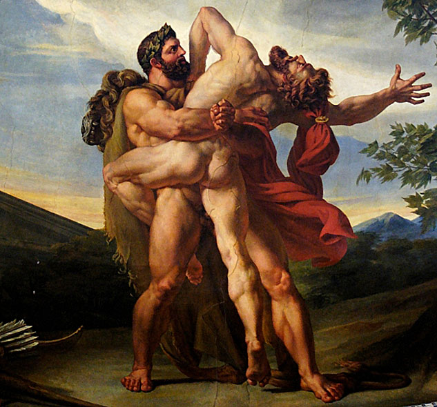 Louis Charles Auguste Couder The Earth Or The Fight Between Hercules And Antaeus1819x633 0