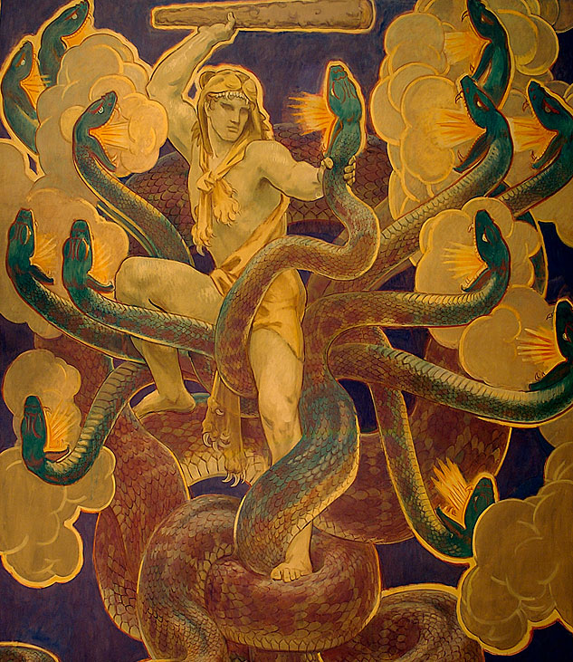 SARGENT Hercules And The Hydra 1922 25 Bostonx633 0