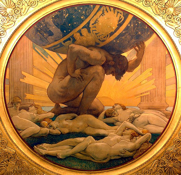SARGENT John Singer Atlas And The Hesperides 1922 25 MFA Bostonx633  0