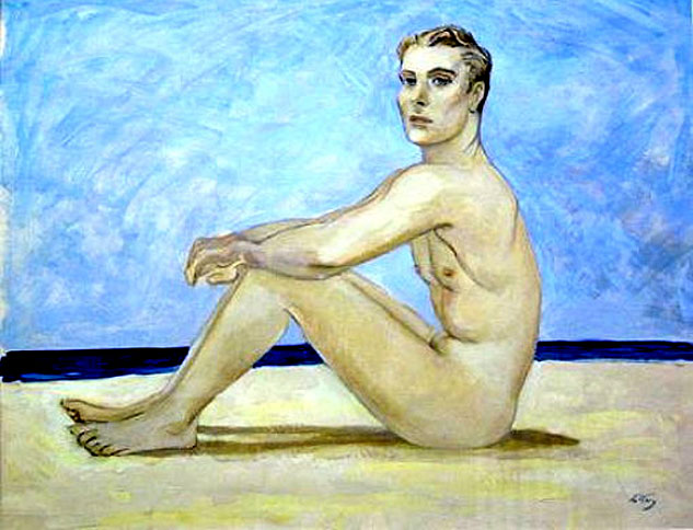 Seated Man On A Beachx633 0