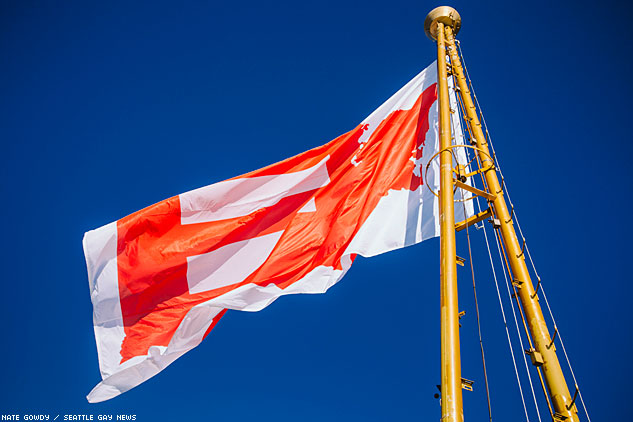 Flag WavingSpace Needle By Nate Gowdy 14x633 0