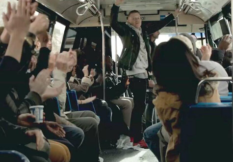 WATCH: Macklemore and Ryan Lewis Surprise New York City Bus Commuters