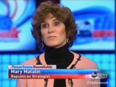 WATCH: What in The World Is Mary Matalin Talking About?