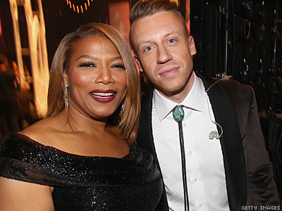 WATCH: Queen Latifah Takes Us Backstage at the Grammy Weddings