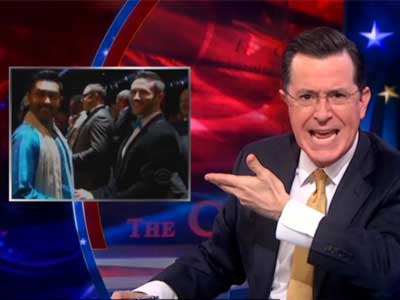 WATCH: Stephen Colbert Rants About Grammy Weddings