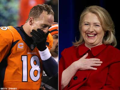 Hillary Clinton Tweets Best Super Bowl Jokes For the Win