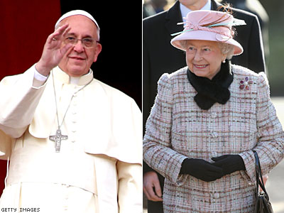 Queen Elizabeth II to Meet Pope Francis in April