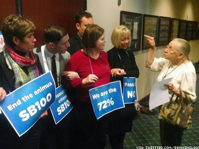Utah LGBT Activists Arrested for Blockading Capitol Offices, Demanding Nondiscrimination Vote
