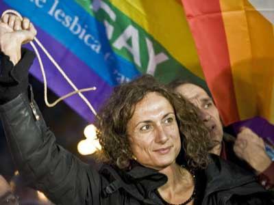 Europe's First Trans Parliamentarian Arrested at Olympics for Gay Sign