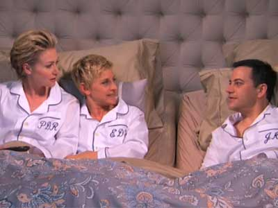 WATCH: In the Bedroom With Ellen and Portia (and Jimmy Kimmel)