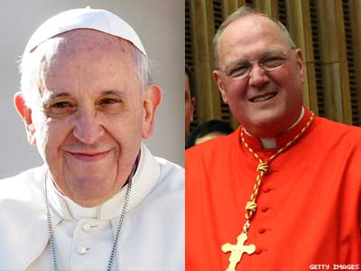 Timothy Dolan Uncomfortable as Pope Calls for Study of Civil Unions