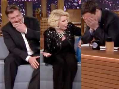 WATCH: Joan Rivers Returns From Tonight Show Ban with Raunchy Set