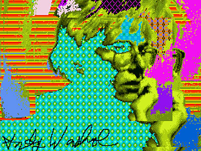 Rare Warhol Art, His First Digital Works, Surfaces