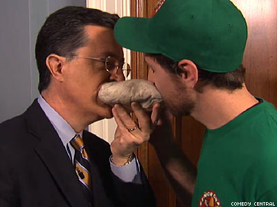 WATCH: Stephen Colbert Orders Sex and Tortillas
