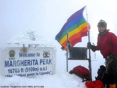 Uganda's Tallest Peak Now Topped With Rainbow Flag
