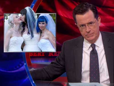 WATCH: Stephen Colbert Is Not Okay With Lesbian 'Throuple'