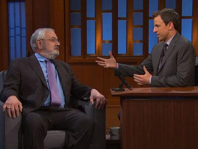 WATCH: Barney Frank Dishes on Cynicism and the Macarena With Seth Meyers