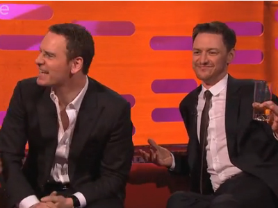 WATCH: X-Men's James McAvoy and Michael Fassbender Discover Gay Erotic Fan Fiction
