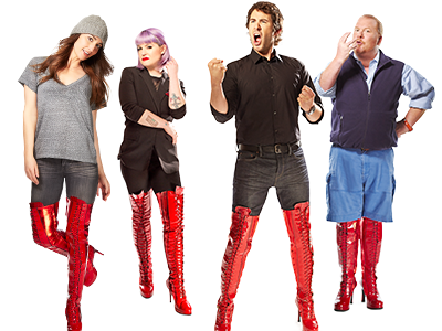 Celebs Lace Up for Kinky Boots'Just Be' Campaign