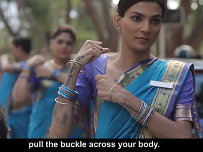 WATCH: India's Newly Recognized Hijra Community Reminds Citizens to Buckle Up