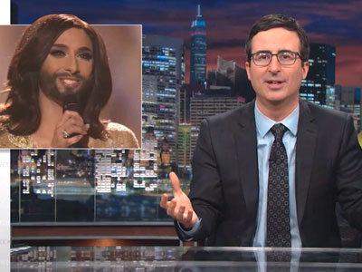 WATCH: John Oliver Celebrates Drag Diva's Eurovision Win