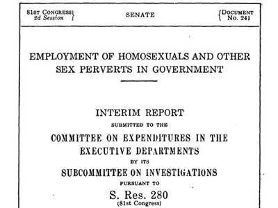 Archival Docs Illustrate Feds' 'Obsessive Effort' to Purge Gay Employees