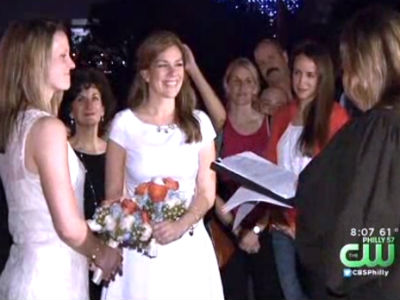 WATCH: Same-Sex Weddings Begin in Pa.