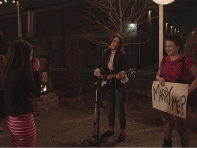 WATCH: Sara Bareilles Helps Same-Sex Couple with Marriage Proposal