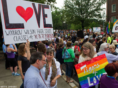 WATCH: D.C. High School Defends Out Principal Against Westboro Picket