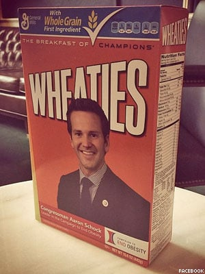 No, Rep. Aaron Schock Is Not on the Wheaties Box