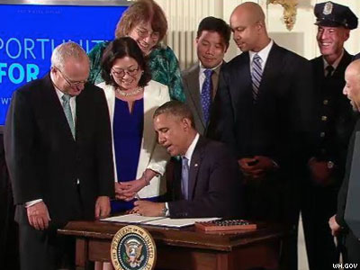 WATCH: Obama Signs LGBT Exec. Order