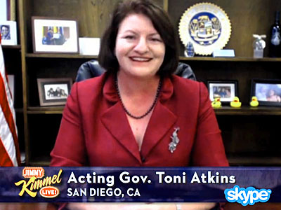 Calif. Assembly Speaker Is First Gay Governor (For A Few Hours)