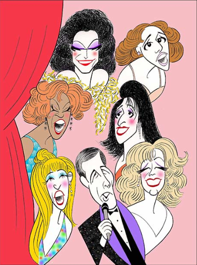 Drag Beauties of Pageant Get Caricature