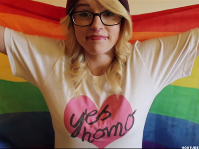 WATCH: Lesbian Teen's Perfect Parody Of Westboro's Antigay Panic!