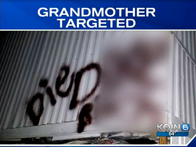 WATCH: Vandals Graffiti Antigay Death Threat on Lesbian Grandmother's Home