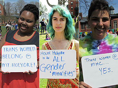PHOTOS: Mt. Holyoke Students Come Out for Trans-Inclusion