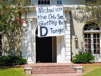 LSU Fraternity Faces Heat For Crass Michael Sam Banner
