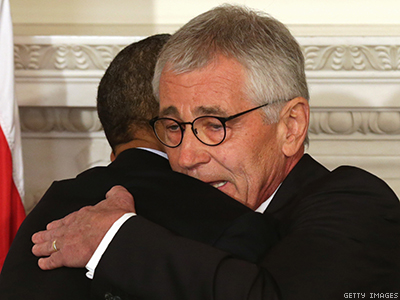 Hagel's Exit Leaves Unfinished Business For LGBT Military Members, Advocates